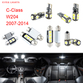 16 unids LED Canbus Luces Interiores Kit Paquete de Mercedes-benz Para Benz Clase C W204 (2007-2014)