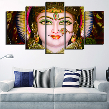 Artwork Canvas HD Printed 5 Panels India Deities Ganesha Picture Poster Painting Home Decorative For Modern Living Room Wall Art