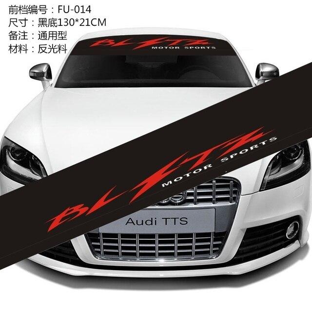 car styling bltz pare brise autocollant stickers sport automobile pare brise avant arri re. Black Bedroom Furniture Sets. Home Design Ideas