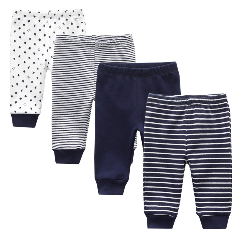 2019 3/4PCS/LOT 0-12M Newborn Cotton Infant Solid Baby Pants Spring Autumn Summer Winter Cartoon Baby Gril Pants Baby Boy Pants(China)