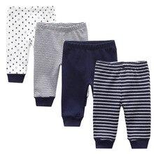 3/4 шт./лот, 0-12 месяцев, хлопковые однотонные детские штаны для новорожденных, весна, осень, лето, зима, детские брюки для девочек, штаны для маленьких мальчиков