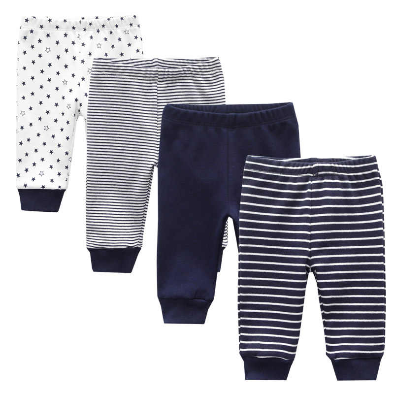 2019 3/4PCS/LOT 0-12M Newborn Cotton Infant Solid Baby Pants Spring Autumn Summer Winter Cartoon Baby Gril Pants Baby Boy Pants