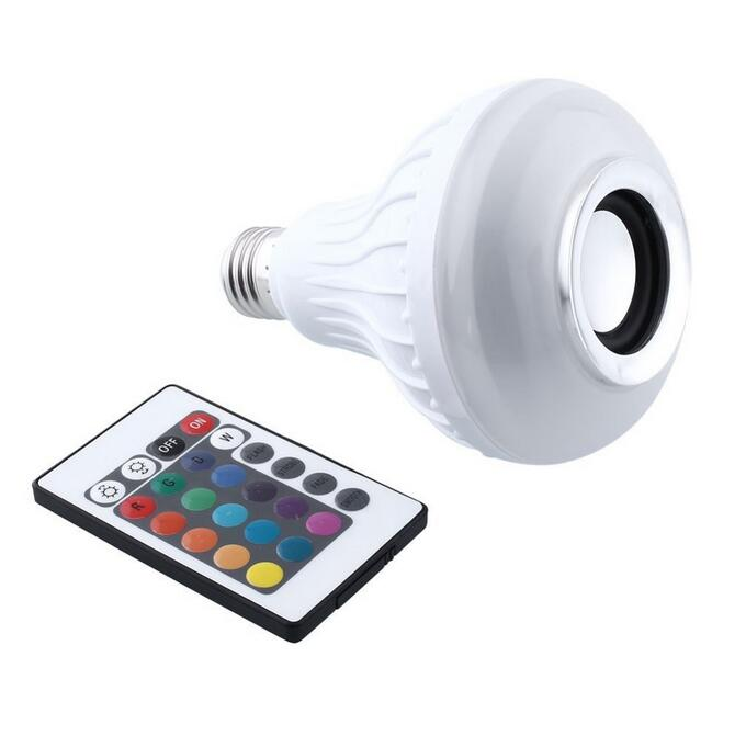 Smart RGB Wireless Bluetooth Speaker Bulb Music Playing 12W E27 LED Light Lamp Remote Control - *#0088*# store