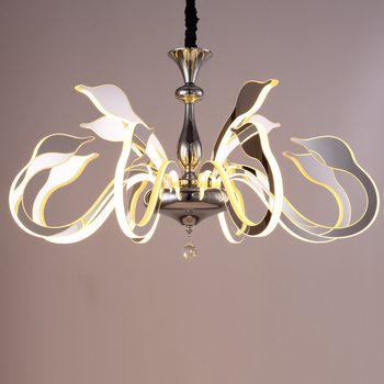 Art Deco European Candle Acrylic LED Swan Chandelier Ceiling Bedroom Living Room Modern Decoration LED Lighting Free Shipping
