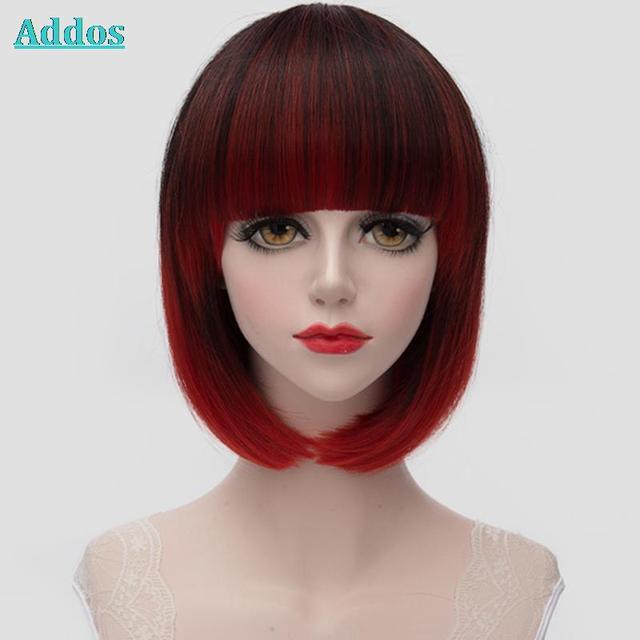 Alta Calidad Lindo Corto Cortes de Pelo Negro + Rojo Pelucas Cortas Para  Las Mujeres Negras 11a3f79868bd
