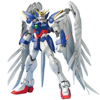 Original Bandai Gundam Model MG 1/100 WING ZERO  Flying Wings Zero Littering Angels PVC Assembly Dolls Figurals