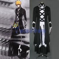 Anime Bleach Kurosaki Ichigo Fullbring New Bankai Look Cosplay Costume Custom Made Free Shipping