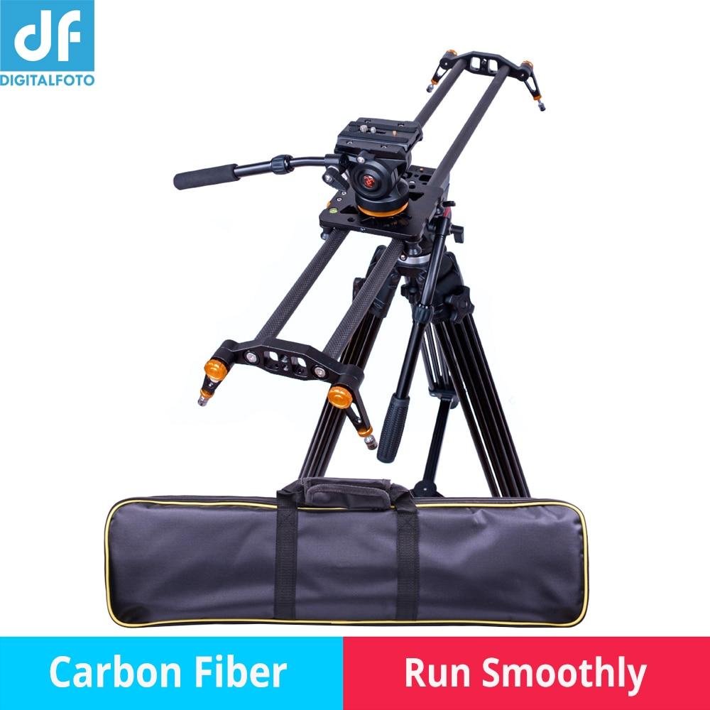 Professionnel En fiber de Carbone caméra curseur 10 kg charge voyage vidéo curseur voie de chariot dslr rail pour Nikon Canon Sony vidéaste