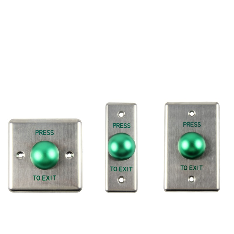 New Stainless Steel Door Release Button Push Button with Big Green Button for door access control system stainless steel rectangle exit push release button switch for electric magnetic lock door access control