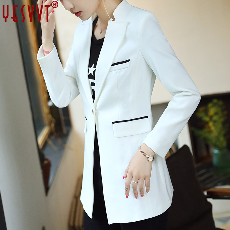 yesvvt autumn women blazers and jackets 2017 full sleeve blazer women white long blazer  ...