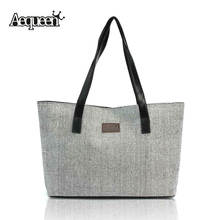 New 2016 Kate Space Women Handbags Canvas Appliques Shopper Bag Large Capacity Lady Casual Linen Summer Tote Shoulder Bags