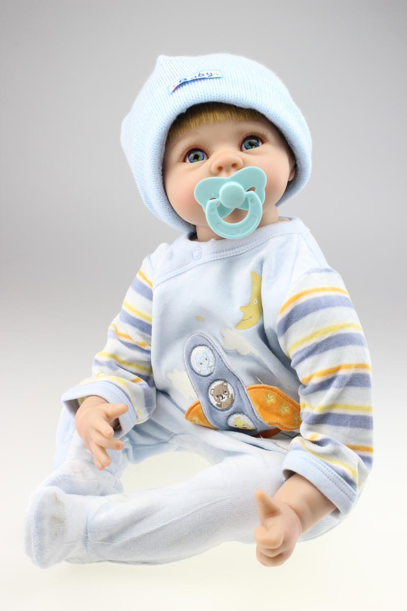 reborn doll kits vinyl silicone reborn baby dolls for girls 55cm bonecas bebe reborn de silicone