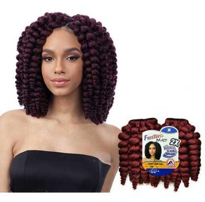 New Product Curl Twist Crochet Braids Freetress Synthetic Hair Kima