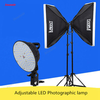 Adjustable LED photographic lamp set studio softbox merchandise shooting portrait photo filling photographic equipment CD50 T03