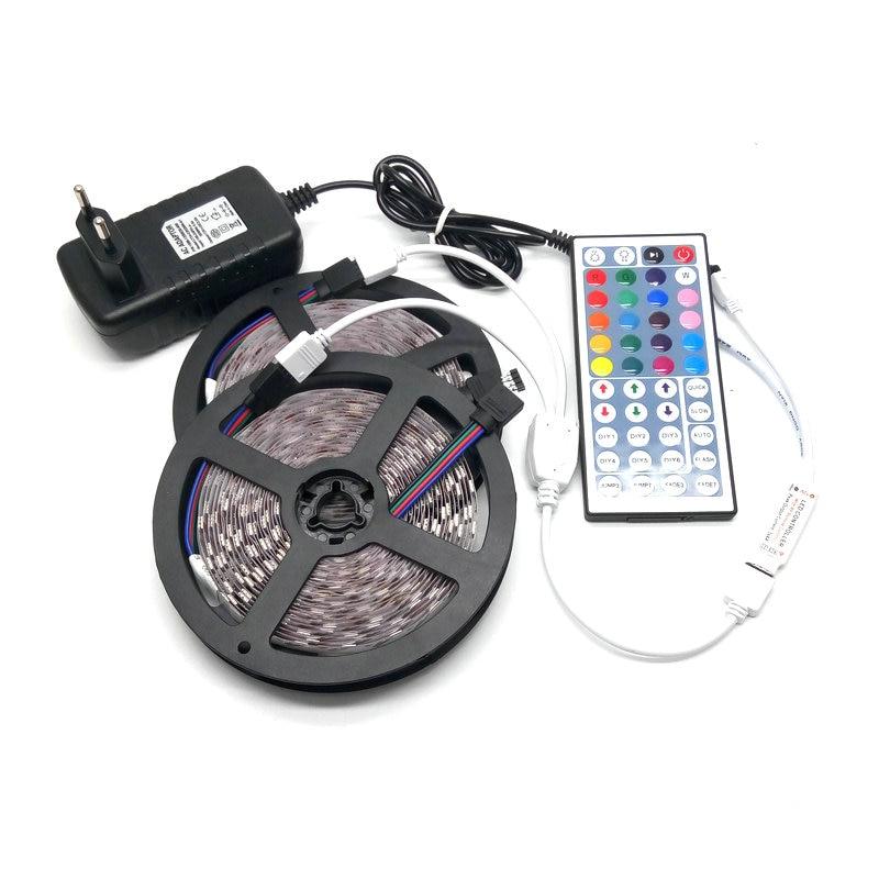 10M SMD 5050 RGB LED Stripsats 60LED / M Flexibel Tape Home - LED-belysning