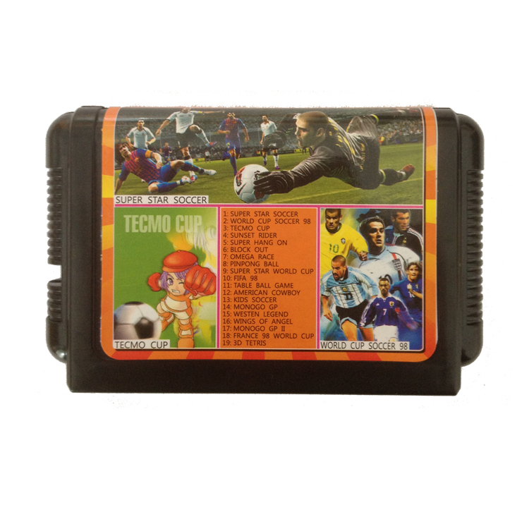 Sega MD Game Card Multi Game Cartridge For 16 bit Sega Mega Drive / Genesis - TH016