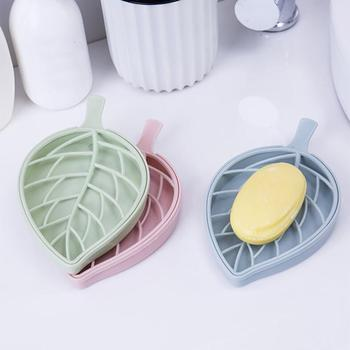 Storage Box Bathroom Shower Leaf Shape Soap   Containers Dish Storage Plate Tray Holder  Organizer Case  Boxes 18MAY28