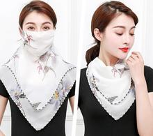 цены Hot Sale Summer Spring Breathable women neck protection face mask sun protective Shade anti-dust mask Mouth-muffle Chiffon M40