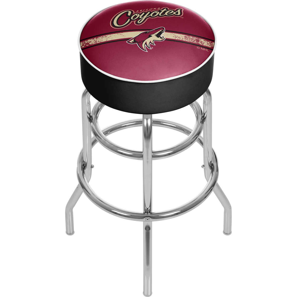 NHL Chrome 30 Inch Bar Stool with Swivel - Arizona Coyotes