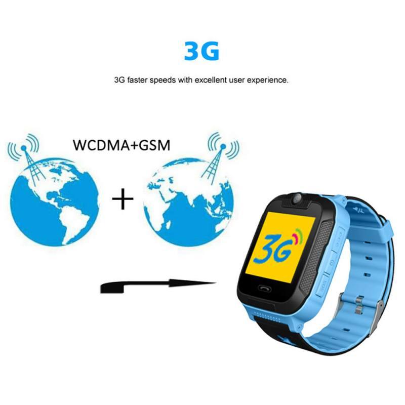 3G enfants montre intelligente avec SOS Wifi GPS Tracker écran tactile pour Android/IOS cadeau pour enfants enfants