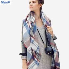 140x140cm Fashion Winter Acrylic Cashmere Tartan Plaid Scarf Brand Blanket Shawl Wrap Stole For Lady Women Girl Christmas Gift