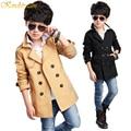 Kindstraum 2016 Spring & Autumn Boy Fashion Cotton Coat Kid Handsome Outwear Child Solid  Windbreaker Style Jacket,MC129