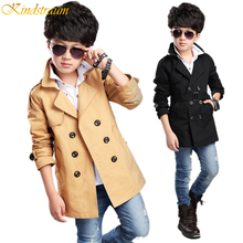 Kindstraum 2017 Spring Autumn Boy Fashion Cotton Coat Kid Handsome Outwear Child Solid Windbreaker Style Jacket