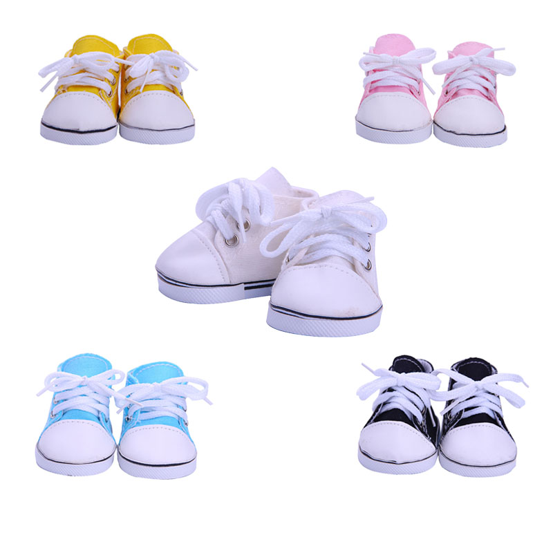 LUCKDOLL Multicolor Canvas Shoes Fit 18