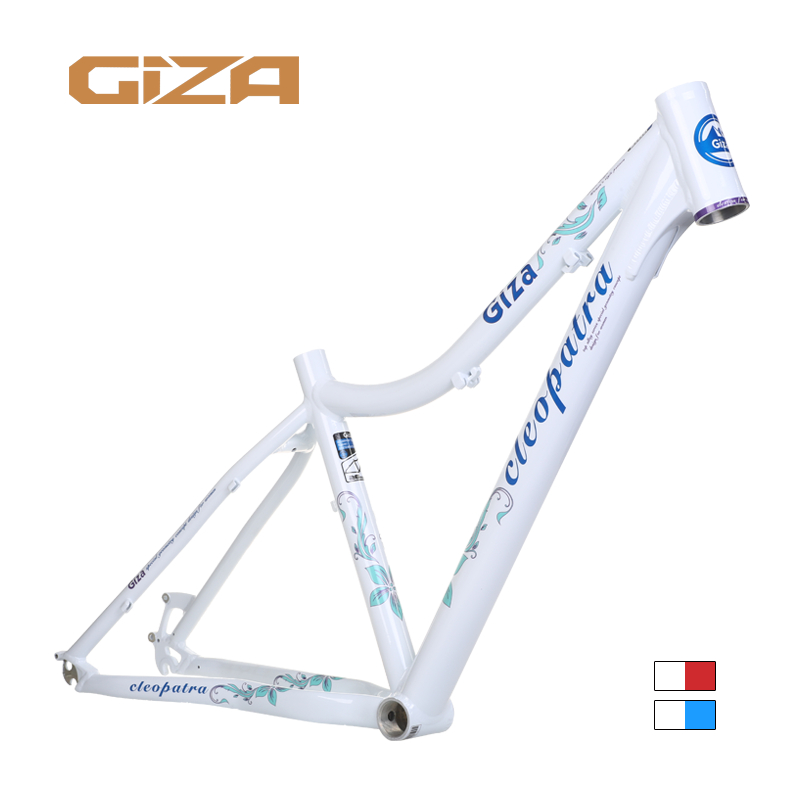 Giza Gizaboss Cleopatra Design for Woman MTB Bicycle 6061 Aluminum Alloy Frame 26 wheel 15 16.5 inch BB68mm|Bicycle Frame| |  - title=