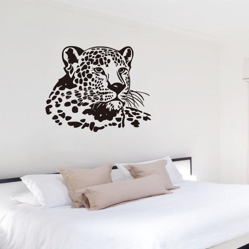 DCTOP Leopard Vinyl Wand Aufkleber Lustige Wild Tier Wandbild Aufkleber Für  Wohnzimmer Schlafzimmer Dekor Küche Aufkleber Badezimmer Aufkleber