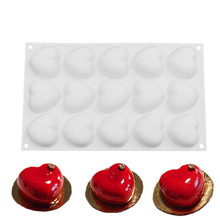 Silicone Mold Love Heart-shaped Mini Cakes For Chocolate Desserts Cake Decorating Tools Pudding Baking Tool Molds Pan цены