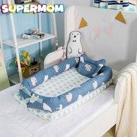 Baby Nursery Bed Newborn Crib Foladable Sleeping Basket Children Bed Nest Kid Travel Crib With Bumper Cot Mattress Baby Cradle