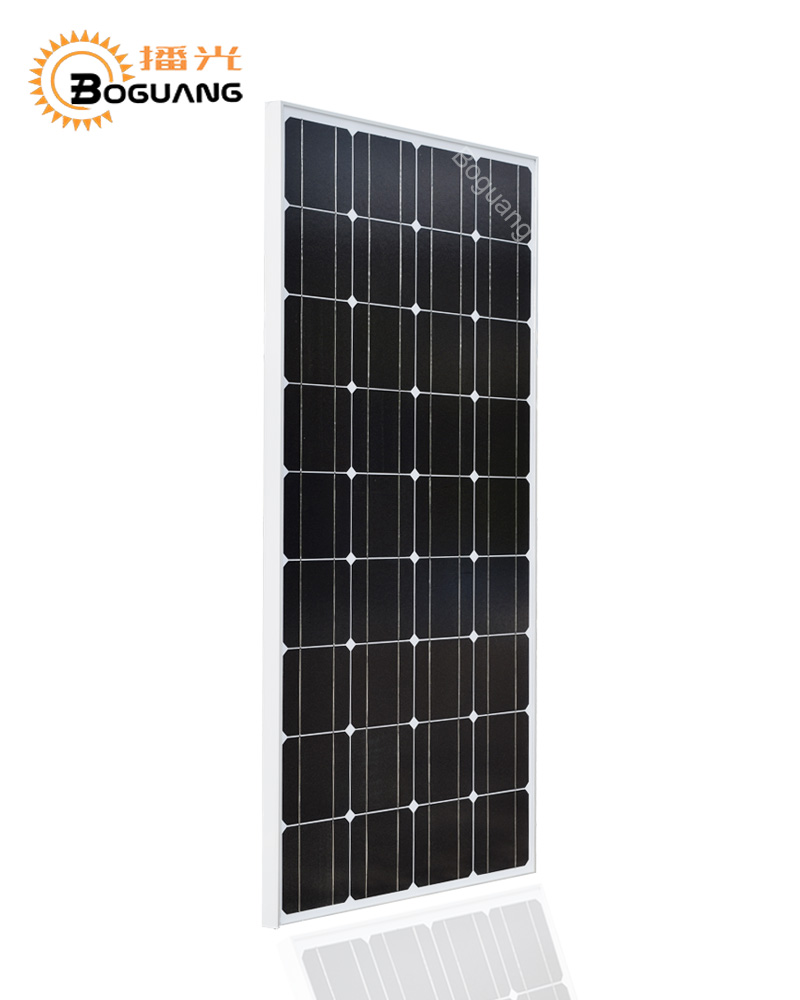 Boguang 18V 100W solar panel project Monocrystalline silicon cell placa frame MC4 connector for 12v battery
