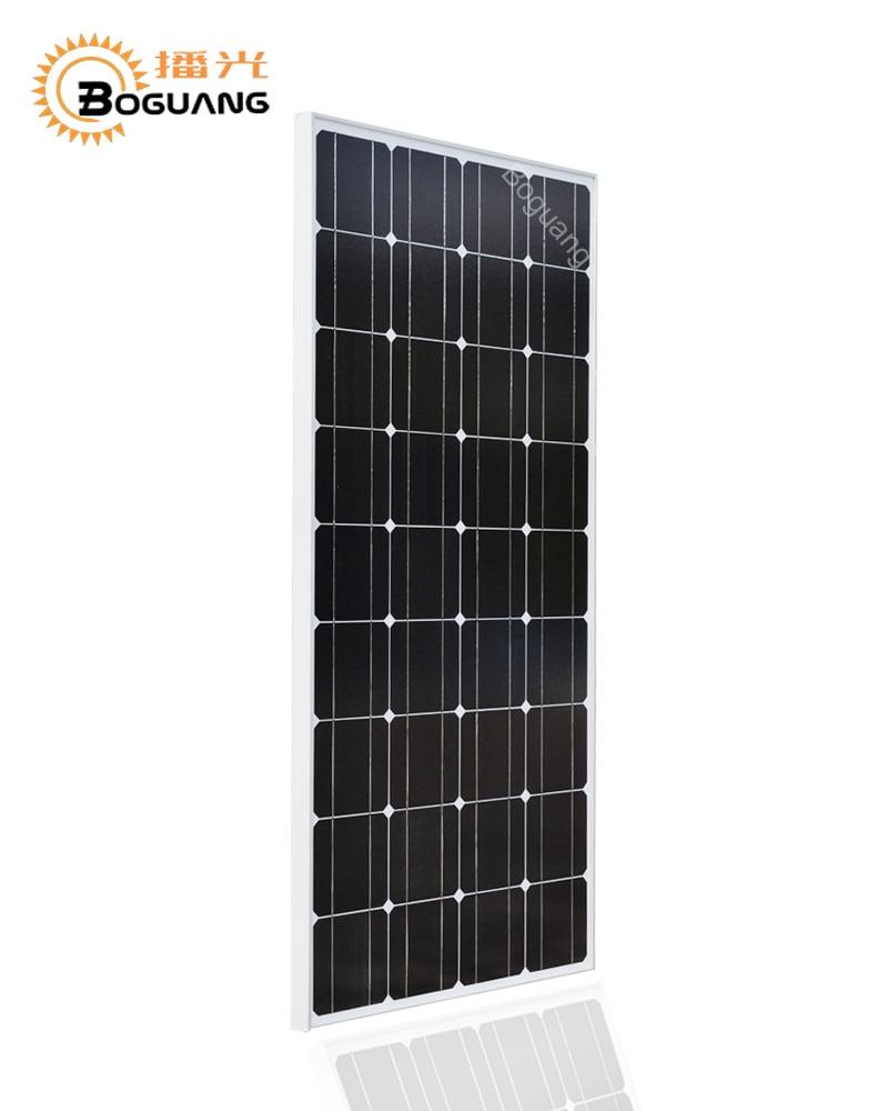 Projet Boguang 18 V 100 W panneau solaire Monocristallin de silicium cellulaire placa cadre MC4 connecteur pour 12 v batterie électrique de la maison chargeur
