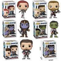 FUNKO POP Marvel Avengers THANOS HULK THOR TONY STARK BLACK WIDOW Characters Model Action Figure toys for Children birthday Gift