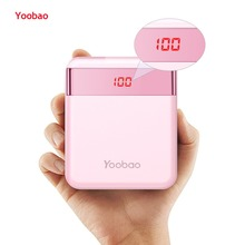 Yoobao M4Pro 10000mAh Mini Colorful Mobile Power Bank 2 USB Ports 2A Output and 2A Input Digital Phone Battery Charger for LG цена 2017