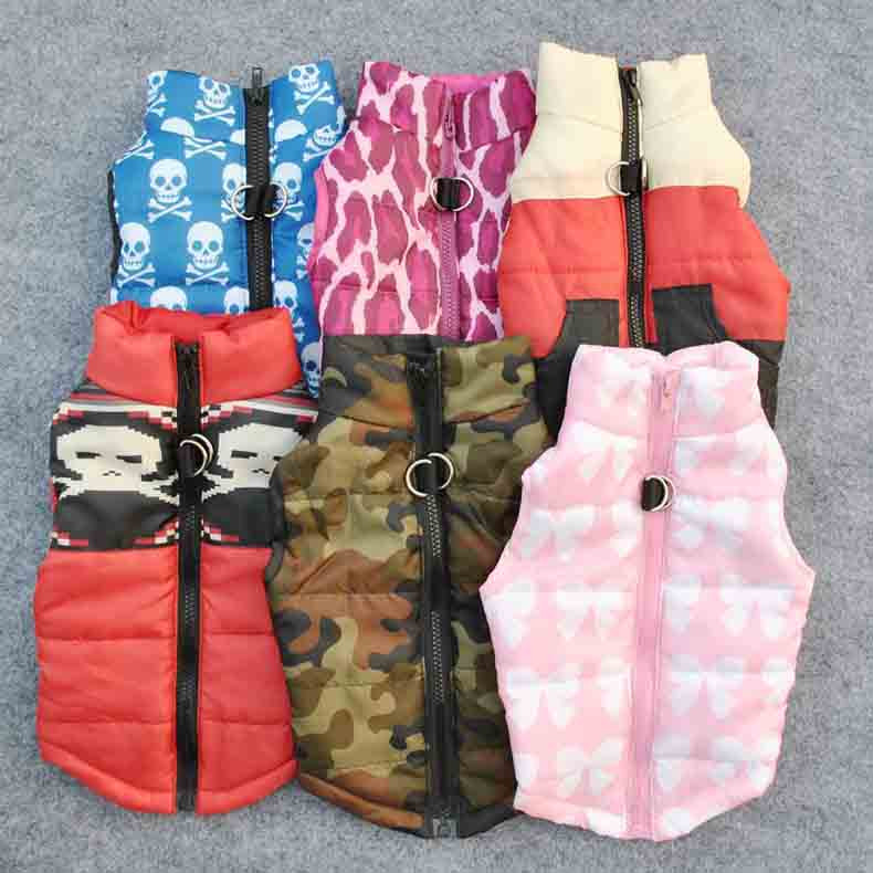 Popular Color Blocking Pet Apparel Dog Clothes Winter Puppy Dogs Vest Cotton-padded Jacket Coat for Chihuahua Teddy Poodle12