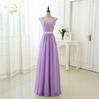 Free Shipping Cheap Price 2015 New Arrival Cap Sleeves Applique Chiffon Pink Blue Red Lilac Purple