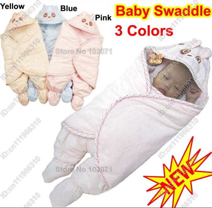 Newborn Baby Hooded Swaddle Me Swaddling Wrap Blanket Mink ...