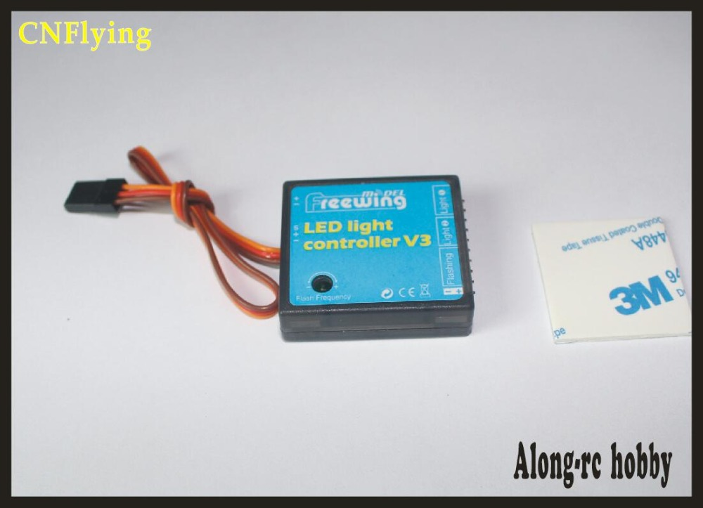 Frees shipping Freewing <font><b>LED</b></font> <font><b>light</b></font> controller V3 for Yak130 Yak-130 90mm Stinger 90mm P51 <font><b>rc</b></font> jet <font><b>plane</b></font> F18 F14 E02 image