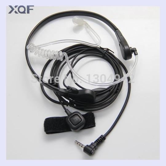 Garganta Mic micrófono Covert acústico auricular para Yaesu Vertex VX-3R 5R 210 210A Radio de dos vías Walkie Talkie 1pin