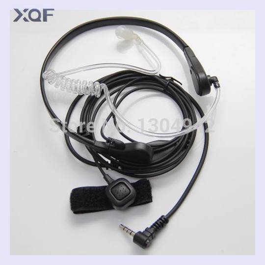 Throat Mic Microphone Covert Acoustic Tube Earpiece Headset  For Yaesu Vertex VX-3R 5R 210 210A Two Way Radio Walkie Talkie 1pin