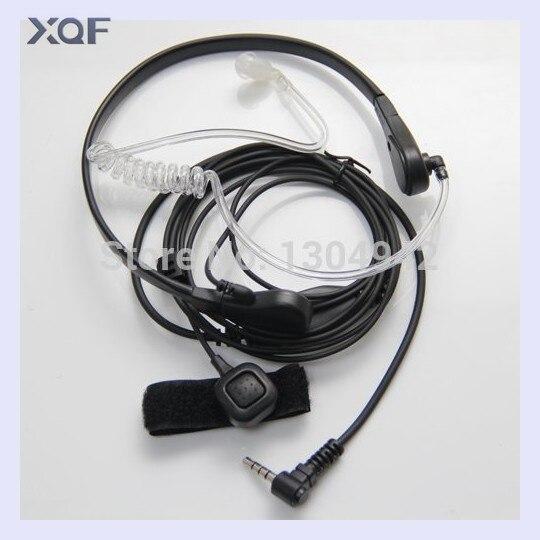 Throat Mic Mikrofon Covert Akustische Rohr Ohrhörer Headset für Yaesu Vertex VX-3R 5R 210 210A Funkgeräte Walkie Talkie 1pin