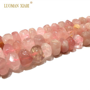 """Image 2 - High Quality 100% Natural Stone Beads Rose Pink Quartz Beads For Jewelry Making DIY Bracelet, Necklace Size 9 14 mm Strand 15"""""""
