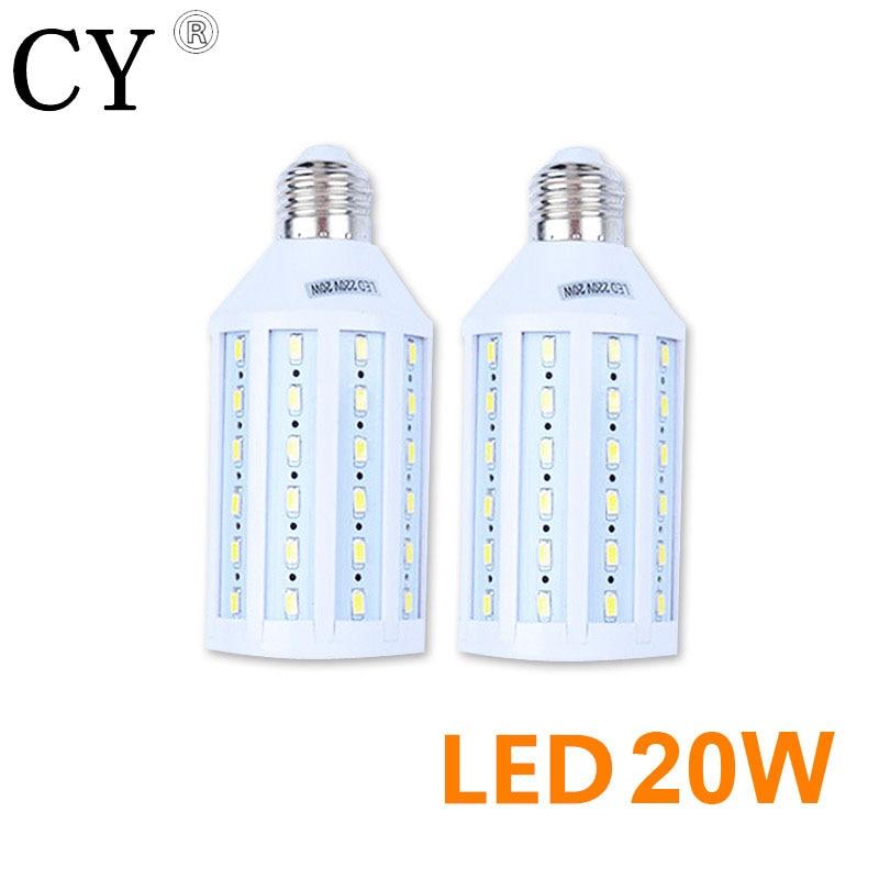 LightupFoto 2Pcs E27 220v Photo Studio Bulb 20W 5730 SMD LED Video Light Corn Lamp Bulb & Tubes Photographic Lighting