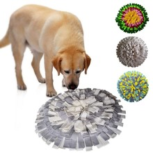 1Pcs Dog Snuffle Mat Pet Puzzle Toy Sniffing Training Pad Activity Blanket Feeding For Release Stress