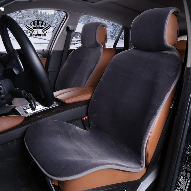 Auto sitzbezüge set Grau faux pelz nette covers für auto innen zubehör kissen styling winter neue plüsch auto pad sitz i022