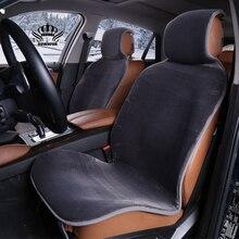 Autositzbezüge set Grau faux pelz nette covers für auto innen zubehör kissen styling winter neue plüsch auto pad sitz i022