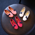 2016 New spring summer princess pu shoes children's flat with leather shoes fashion girls casual shoes kids's footwear 16J03