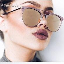 Luxury High Quality Aviator Sunglasses Women Brand Designer Vintage Cat Eye Female Sun Glasses For Women Ladies Sunglass Mirror